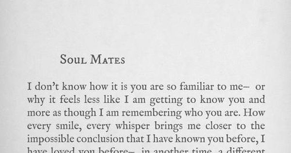 #Reality Life Quote Soul Mates Love Saying LangLeav Existence Unreal