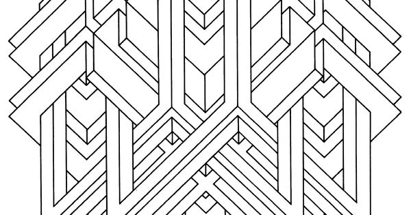 Illusion coloring of op art coloring pages for Op art coloring pages