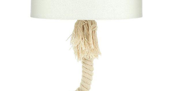 maritime tischlampe lampe tau seil wei er schirm tischleuchte lampe lampenfieber pinterest. Black Bedroom Furniture Sets. Home Design Ideas