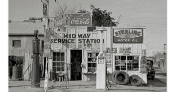 Midway service station a filling station and garage in for Garage mercedes 93 stains