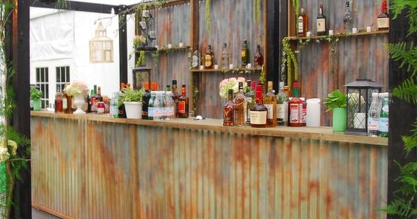 Hello Shabby Chic! This rustic bar was custom created for a special