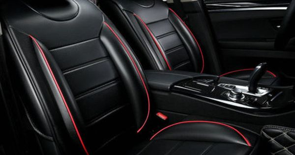 Black Red Pu Leather Car Seat Cover For Volkswagen Polo Vw Golf