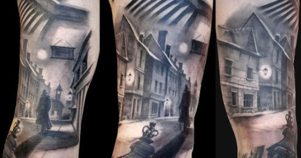 95 awesome examples of full sleeve tattoo ideas street for Square city tattoo
