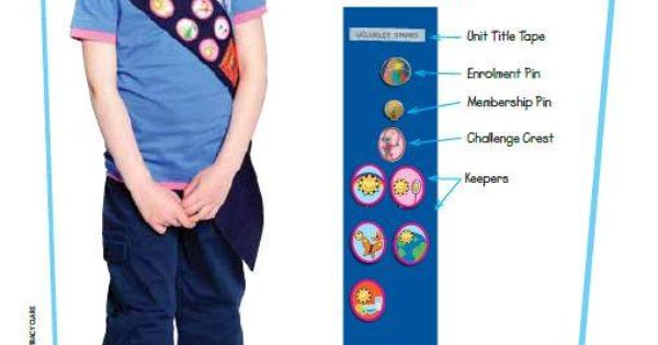girl guide sash badge placement canada