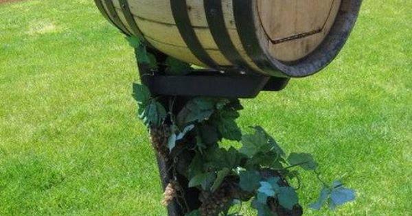 Wine Barrel Mailbox Wine Barrel Ideas Pinterest