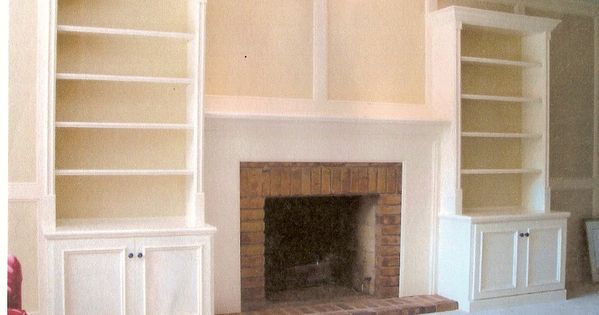 Built In Fire Place Shelves Built In Wall Unit With Base