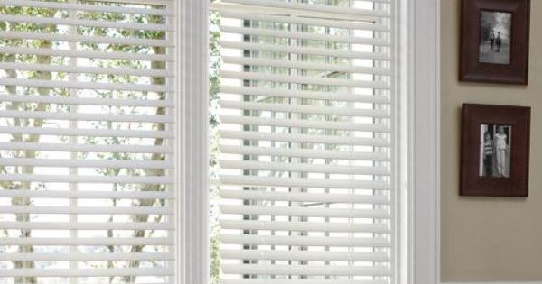 Better Homes And Gardens White Faux Wood Blinds Windows