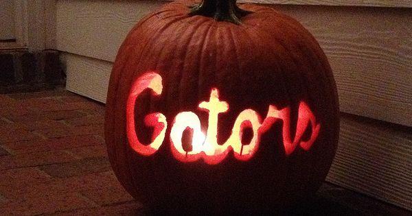 Florida gators carved pumpkin http gamedayr
