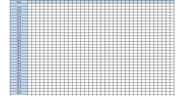 Blank Ovulation Chart As We All Know Fam Pinterest
