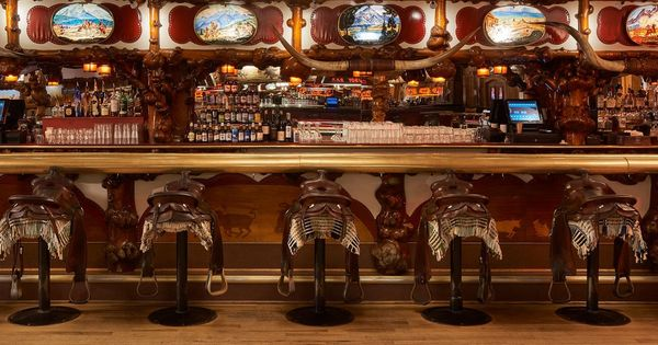 The Million Dollar Cowboy Bar Cowboys Bar Jackson Hole Cowboy Village Resort