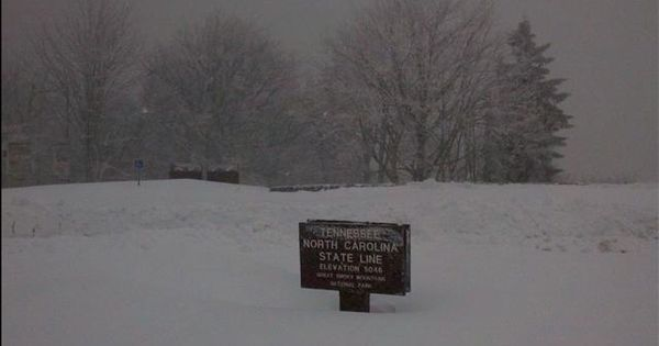 East Tn Blizzard of 1993 | Newfound Gap at the TN/NC state ...
