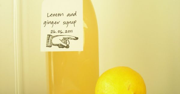 Ginger Lemon Drink Syrup