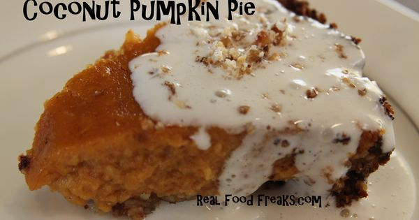 grain free coconut pumpkin pie
