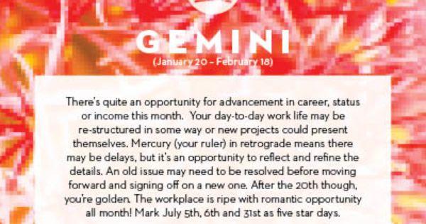 July horoscopes 2013 month of july horoscopes and gemini horoscope
