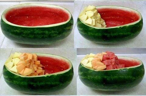 how to cut a cantaloupe life hack