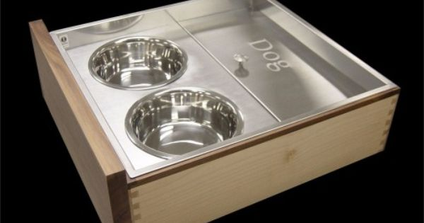 Custom Stainless Pet Feeding Drawer Cabinet And Drawer