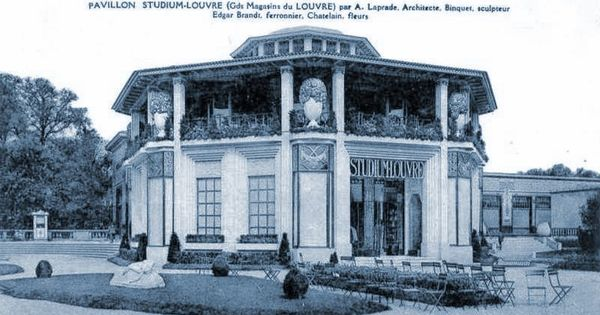 Pavilion Studium Louvre Paris 1925 Expo Art Deco Style Pinterest Louv