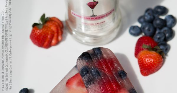 SMIRNOFF SORBET® Light Raspberry Pomegranate | Popsicles ...