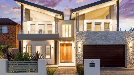 Fachadas de casas modernas de dos pisos hermosos dise os for 90s house exterior