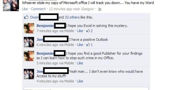 Microsoft Humor Microsoft Funny Pictures Microsoft Office