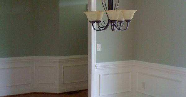 Sherwin Williams Softened Green And Dover White Design