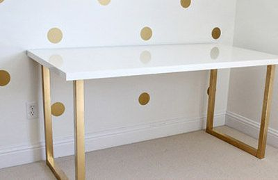 Combine A Linnmon Table Top With Custom Legs To Create A Desk Of Dreams 15 Totally Ingenious Ikea Hacks Ikea Table Tops Ikea Ikea Desk