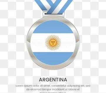 Argentina National Flag With Silver Place Winners Medal For Independence Day Argentina Independence Day Independence Day Medal Flag Silver Medal National Fla Independence Day Argentina Independence Day National Flag