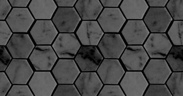 Charcoal Gray Hexagon Tile Basement Bath Floor For