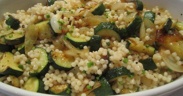 Israeli Couscous with Zucchini | Yummy recipes for a growing family ...