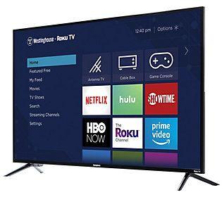 Westinghouse 43 Full Hd Roku Tv Qvc Com In 2020 Smart Tv Roku 4k Ultra Hd Tvs
