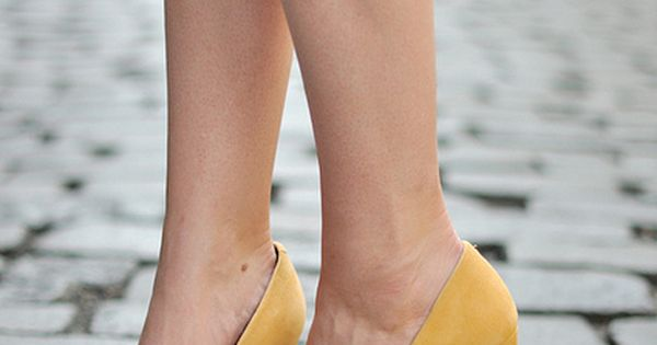 Pour La Victoire yellow wedge heels. Long gone and probably $300