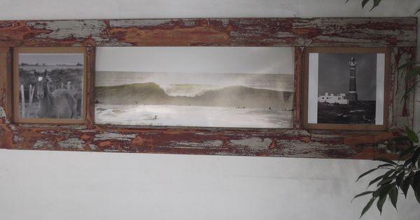 Marco para fotos con puerta antigua reciclada con - Marco foto antigua ...