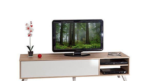 meuble tv scandinave cosmos chêne et blanc   tvs and cosmos,