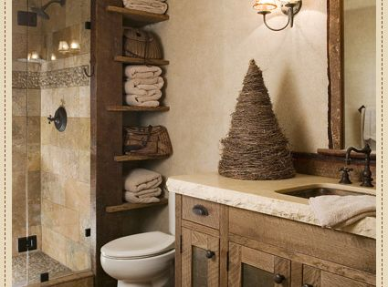 LOVE THE RUSTIC IMAGE..would not like towel holder due to mold, dust,