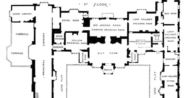 First floor of holland house architectural floor plans for Holland house design