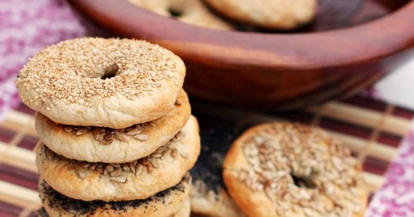 Bagels, Homemade bagels and Homemade on Pinterest