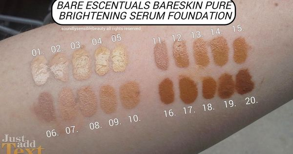 Bareminerals Bareskin Swatches I Am Seriously Buying 3