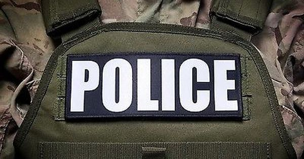 """3x8/"""" POLICE NEGOTIATOR Tactical Hook Plate Carrier Morale Raid Patch SWAT"""