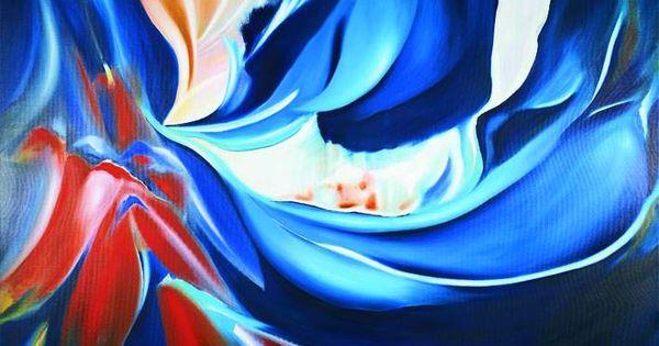 Arie koning kunst in vrolijke kleuren kleurrijk abstract modern groot schilderij kleurig - Kleuren schilderij eetkamer ...