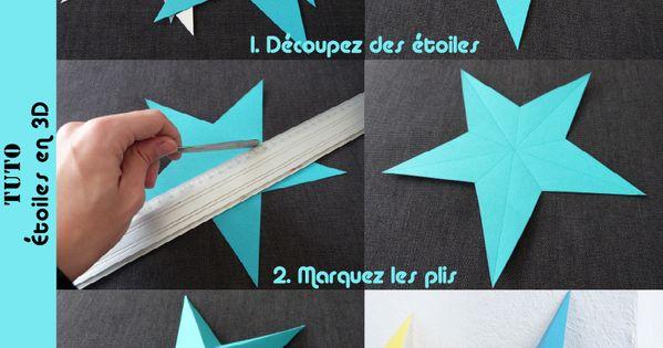 Etoile 3d en papier le tuto 3d en images et toiles - Tuto etoile origami ...