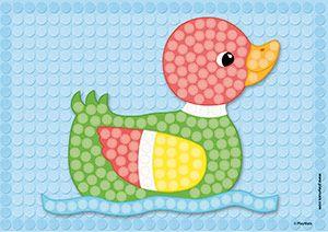 Playmais Ente Mosaic Vorlage Zum Bekleben Cards Mosaic Ducky