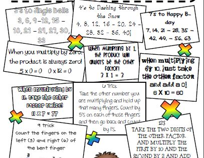 math songs and tricks for remembering multiplication facts