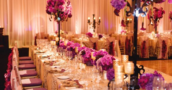Purple has evolved into such a popular color over the past few years!  http://www.CreativeAmbianceEvents.com