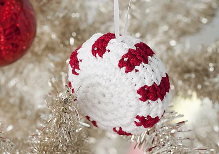 crochet Christmas peppermint on Ravelry crochet ornament