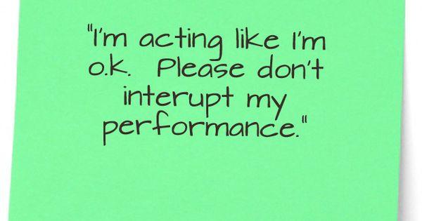 Performance art......