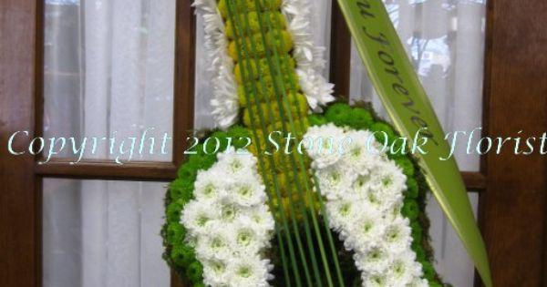 Floral Guitar Funeral Floral Arrangements Pinterest