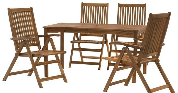 Florabest Holz Gartenmobelset 5 Teilig Mit Klappsesseln 1 Gartenmobel Gartenmobel Sets Gartenbank Holz