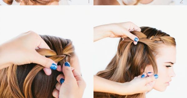 www.lunacatstudio.com beauty hair makeup blog template wordpress premium Waterfall Braid Tutorial: Prom