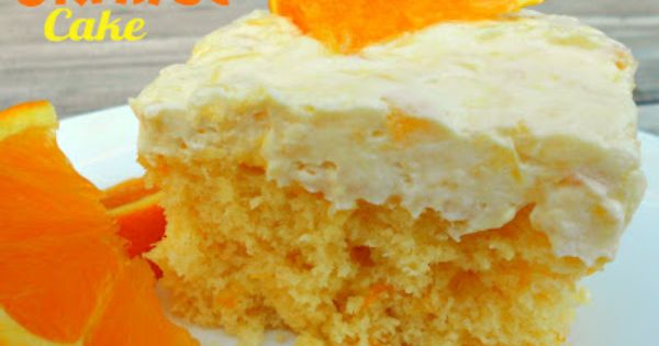 Pineapple Orange Cake | Six Sisters' Stuff. Try with GF yellow cake