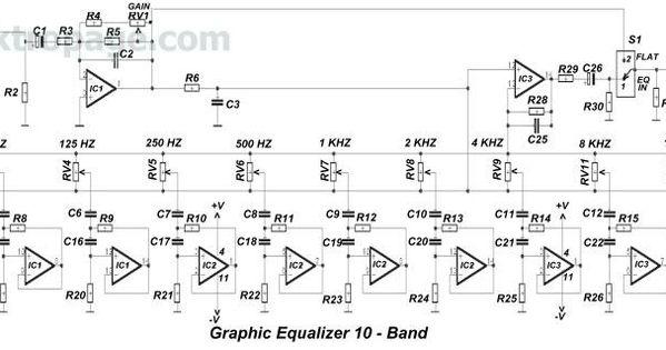 10 Band Equalizer Circuit Diagram